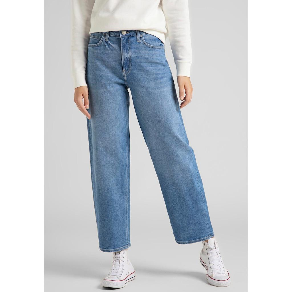 Lee® Weite Jeans »Wide Leg«, mit Bleich- und Moustaching-Effekt