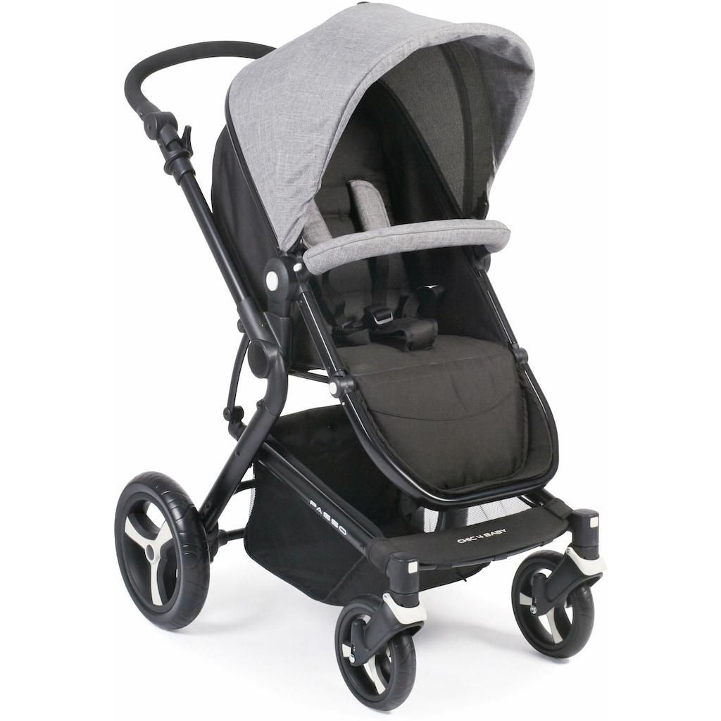 CHIC4BABY Kombi-Kinderwagen »Passo, grau«, 15 kg, ; Kinderwagen