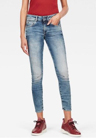 G-Star RAW Skinny-fit-Jeans »Arc 3D Mid Waist Skinny«, passt sich durch den 3-D Denim Konstruktionsansatz an den Träger an kaufen