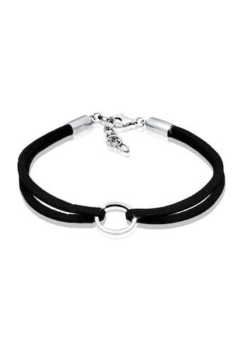 Elli Armband »Kreis Geo Velour Optik Trend 925 Sterling Silber« kaufen