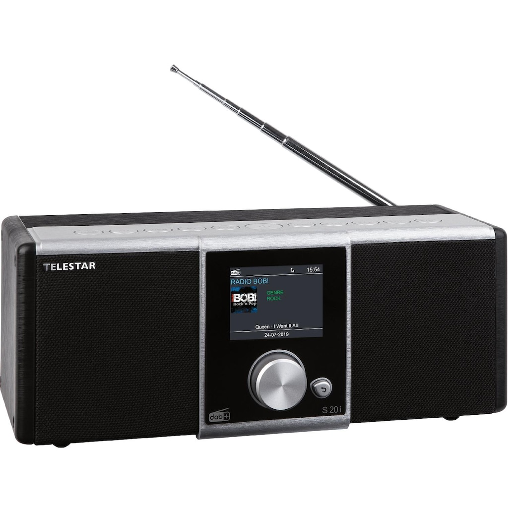 TELESTAR Radio, Internetradio, DAB+, UKW, USB, Bluetooth, Hybridradio »S 20i«