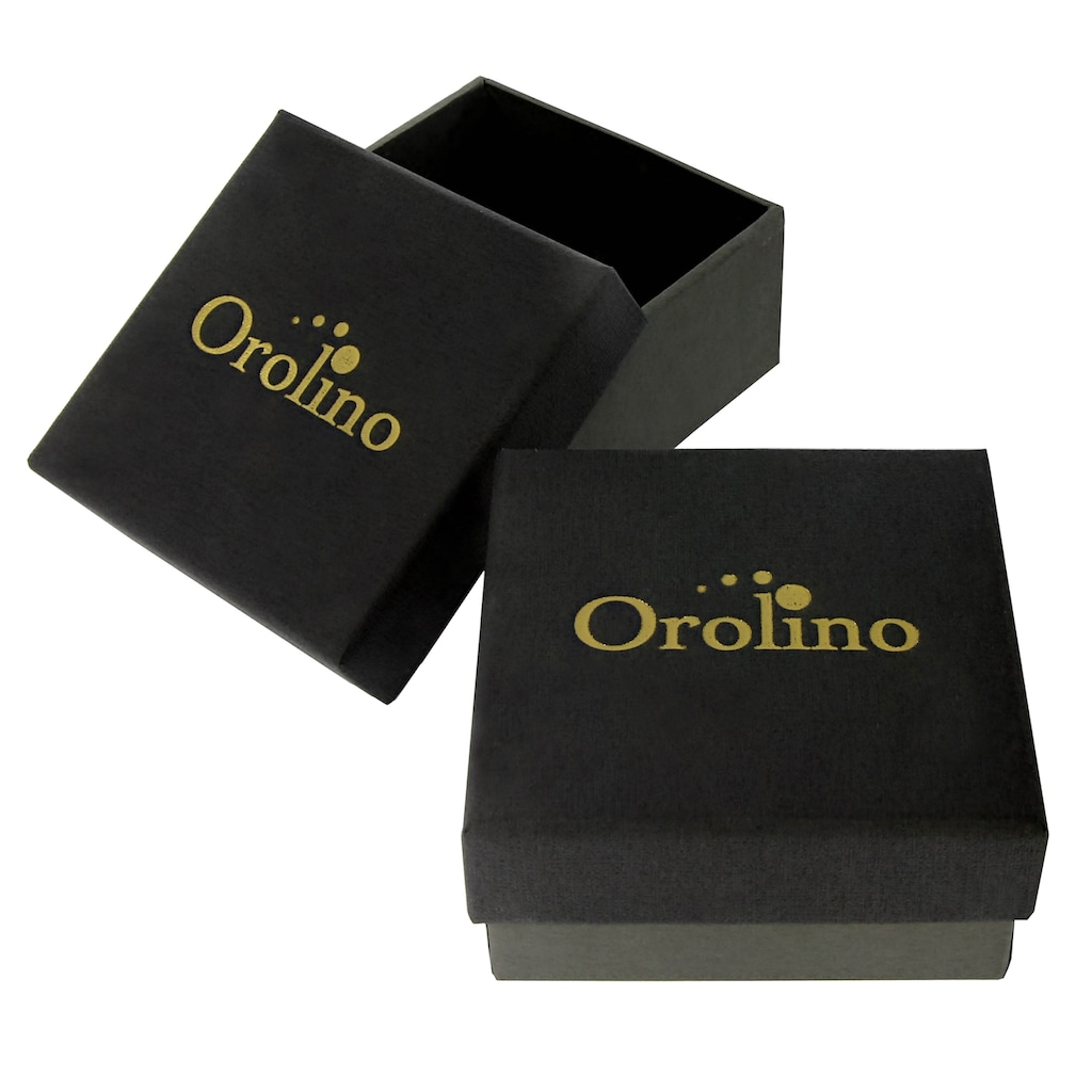 Orolino Fingerring »585/- Gold rot Blautopas«