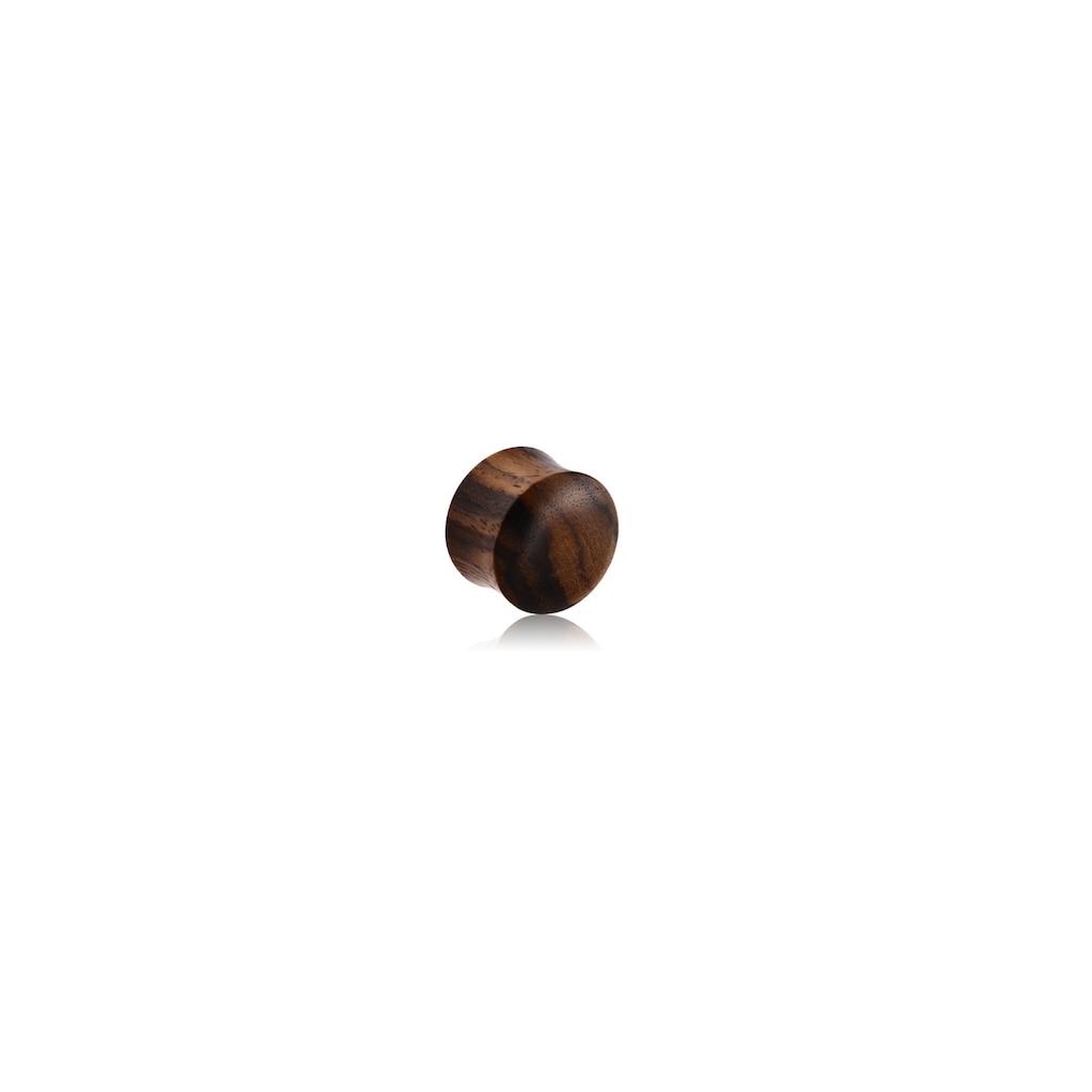 BodyJewel Plug »schwarz-braunes Holz«