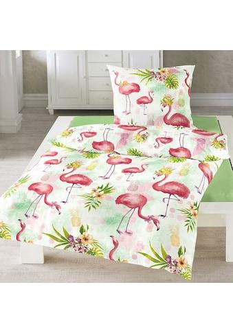 TRAUMSCHLAF Bettwäsche »Flamingo rose«, bügelfreie Seersucker Qualität kaufen