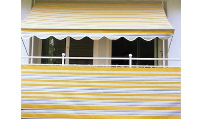 Angerer Freizeitmöbel Balkonsichtschutz, Meterware, gelb/grau, H: 75 cm kaufen