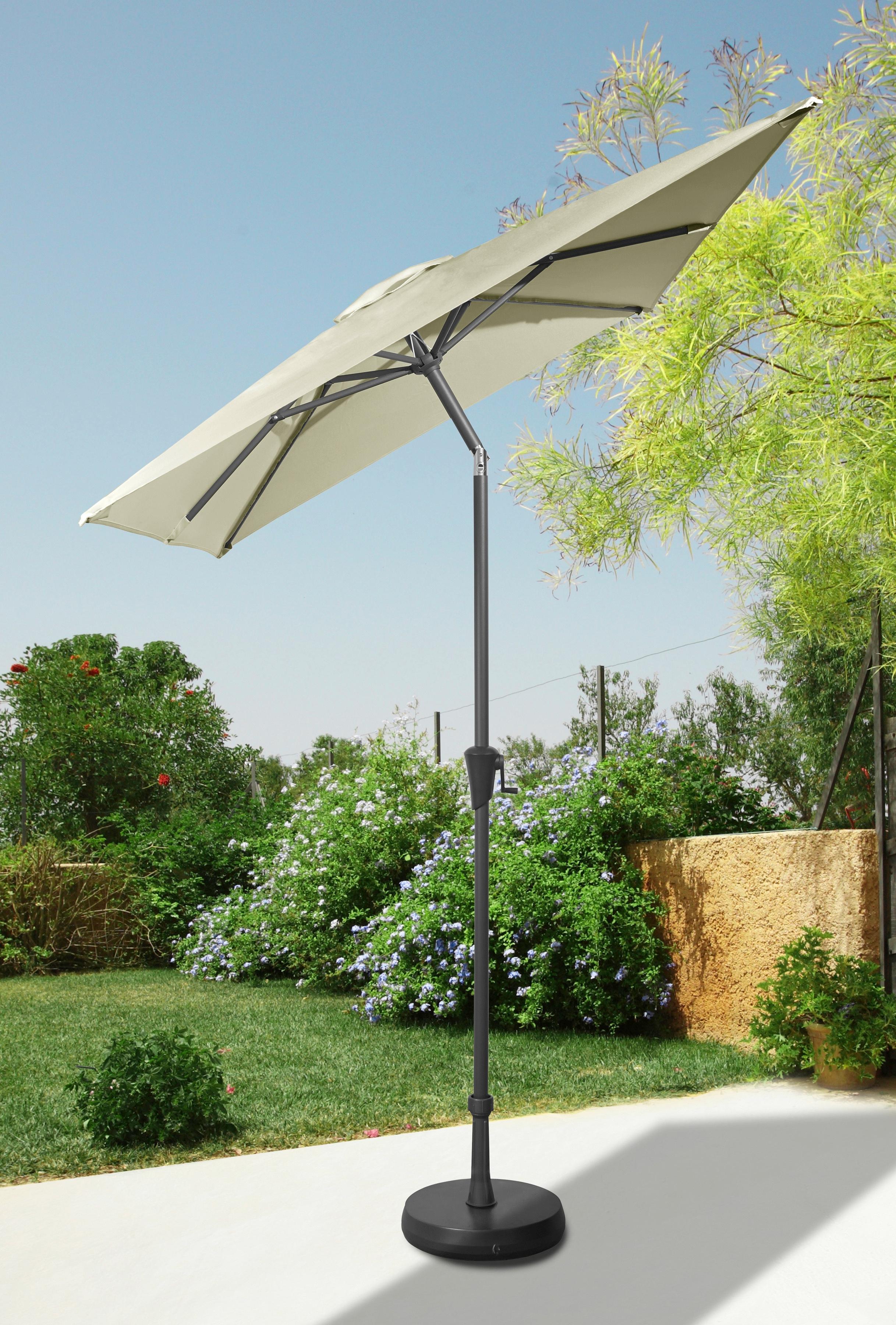 garten gut Sonnenschirm, abknickbar, ohne Schirmständer beige Sonnenschirme -segel Gartenmöbel Gartendeko Sonnenschirm