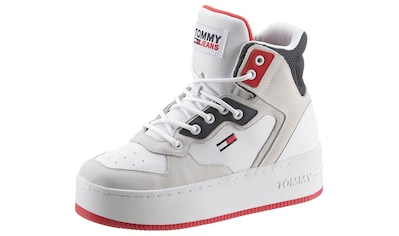 TOMMY JEANS Plateausneaker »ICONIC MIDCUT LEATHER SNEAKER« kaufen