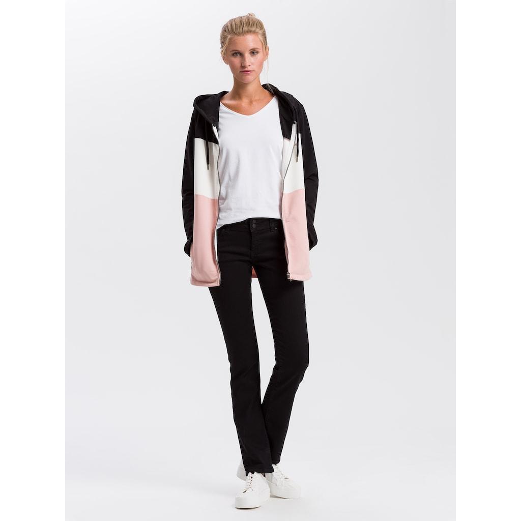 Cross Jeans® Kapuzensweatjacke »65234«, Long Sweat Jacke