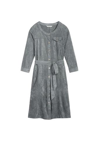 Sandwich Kleid in Wildleder - Optik kaufen