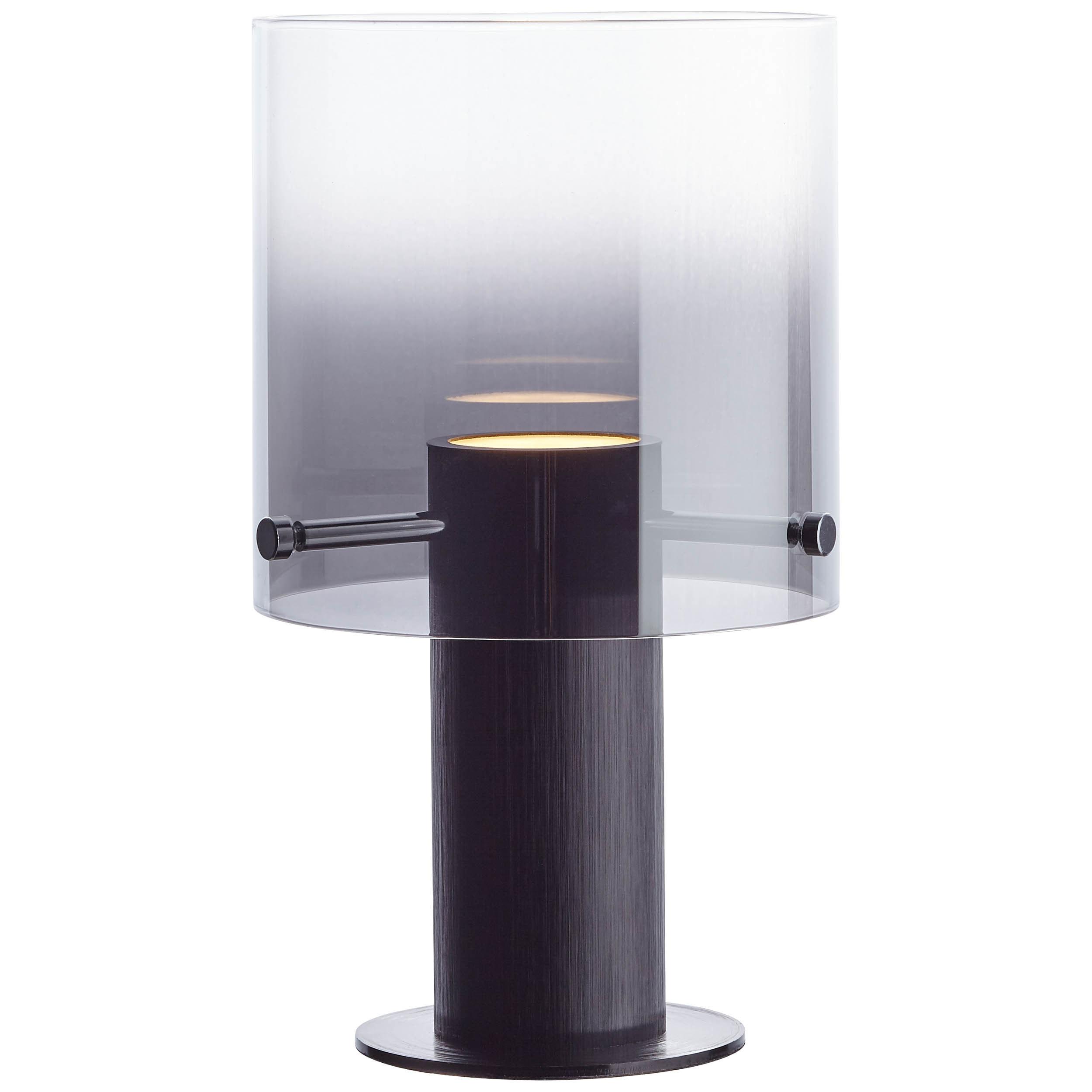 Brilliant Leuchten Beth LED Tischleuchte schwarz/rauchglas