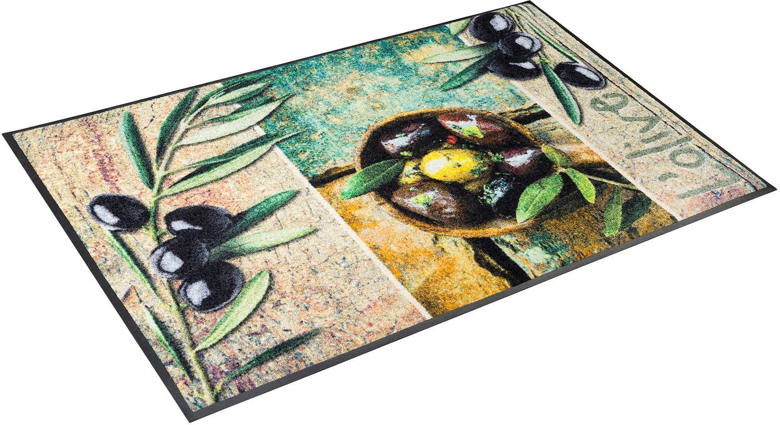 Teppich L´Olive wash+dry by Kleen-Tex rechteckig Höhe 7 mm gedruckt