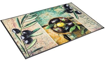 Teppich, »L´Olive«, wash+dry by Kleen - Tex, rechteckig, Höhe 7 mm, gedruckt kaufen