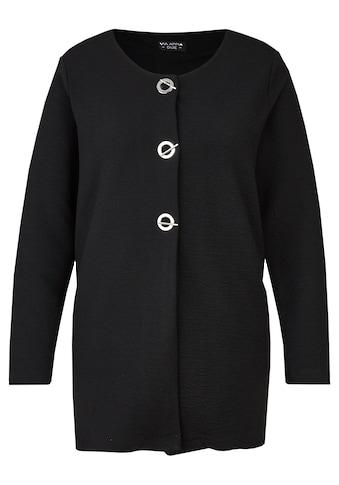 VIA APPIA DUE Extravagante Jacke mit auffälligen Knöpfen Plus Size kaufen