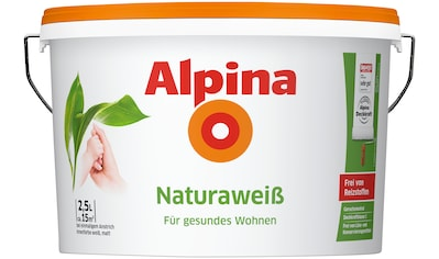 Alpina Wand- und Deckenfarbe »Naturaweiß«, für Beton, Gips, Mauerwerk und Tapeten kaufen