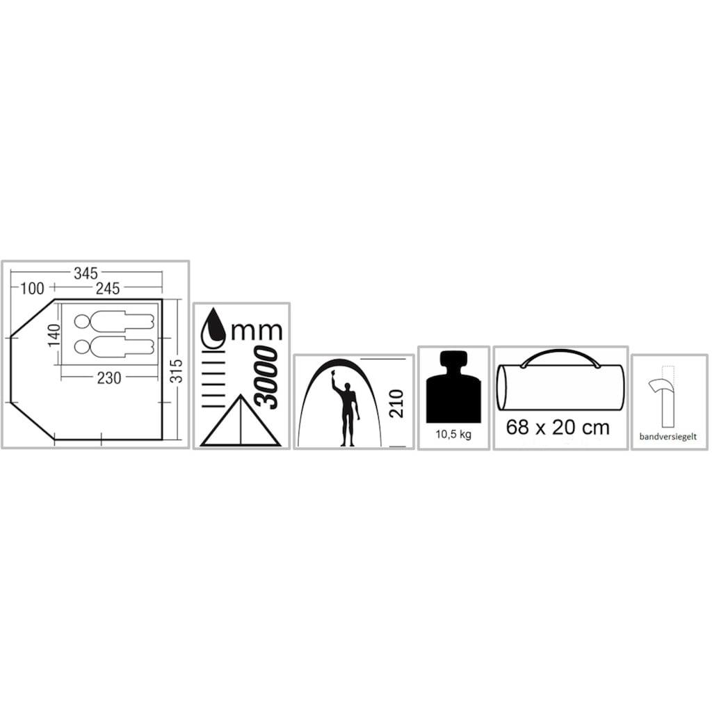 EXPLORER Buszelt »ECO«, 2 Personen, herausnehmbare Schlafkabine, Ring+Pin-System