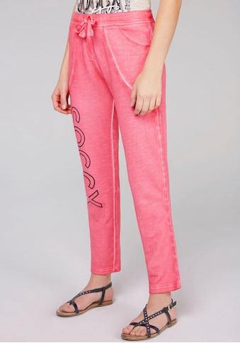 SOCCX Jogger Pants, mit großem Bein-Motiv in Glitzeroptik und verstellbarem Bindeband kaufen