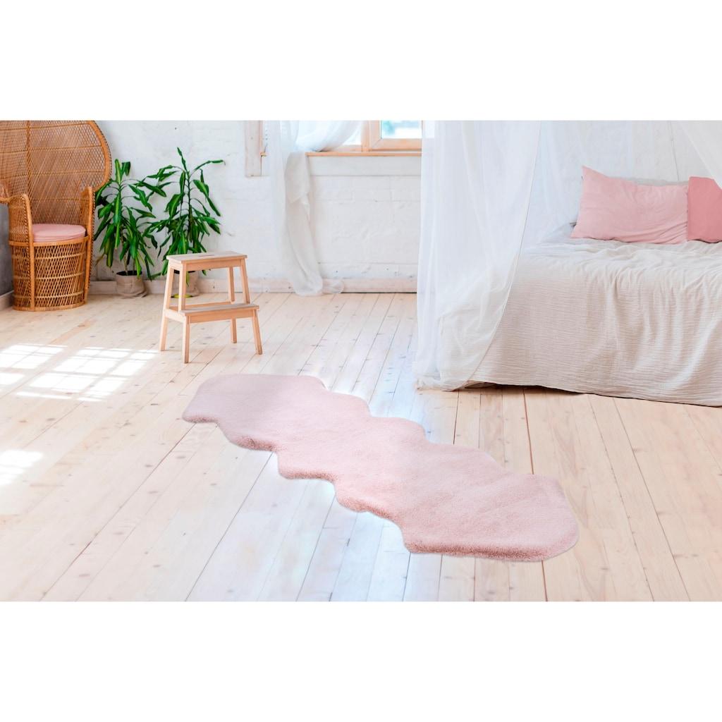 Arte Espina Fellteppich »Rabbit 300«, fellförmig, 35 mm Höhe, Kunstfell, Kaninchenfell-Haptik, Wohnzimmer