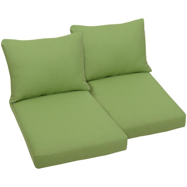 GO-DE Sitzkissen , (2er Set) für Palettenmöbel, (B/T): ca. 60x80 cm