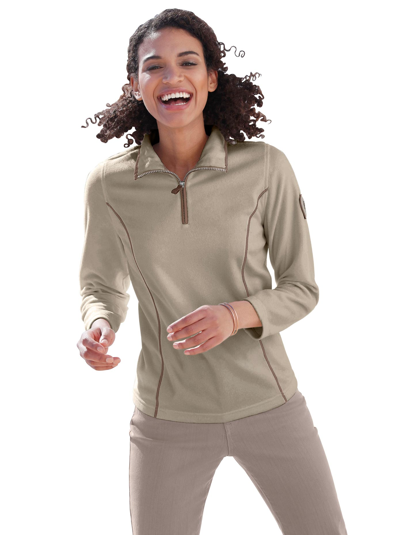 Casual Looks Fleece-Troyer mit Antipilling-Ausrüstung   Bekleidung > Pullover > Troyer   Casual Looks
