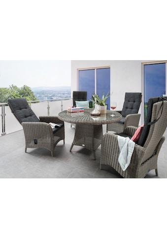 Destiny Gartenmöbelset »Palma Luna«, (5 tlg.), Stühle mit verstellbarer Rückenlehne kaufen
