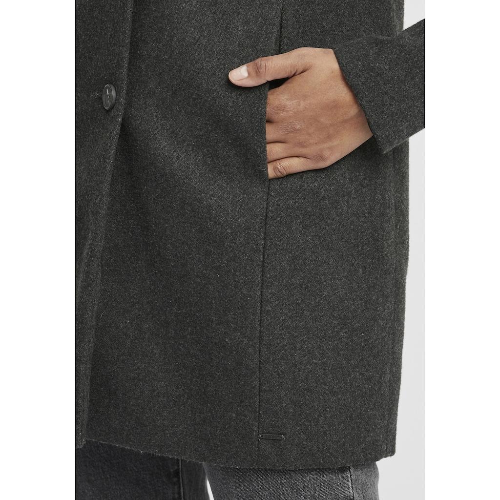 OXMO Wollmantel »Hermy«, Wollmantel mit hochabschließendem Kragen