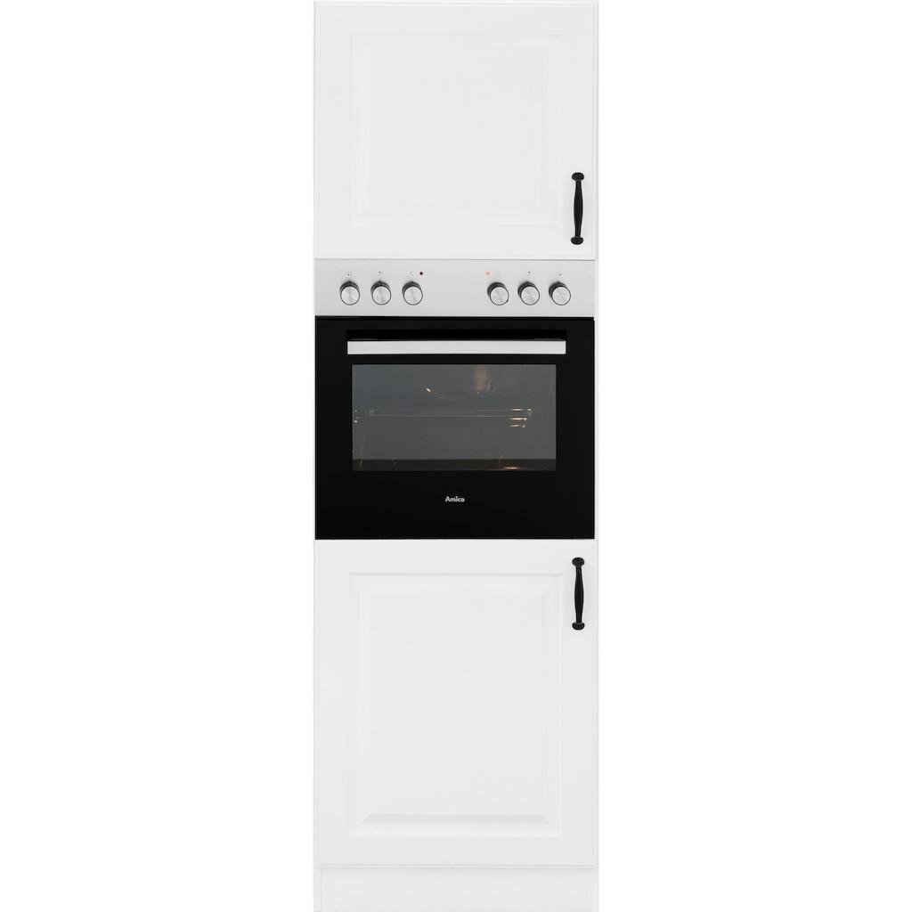 wiho Küchen Backofenumbauschrank »Erla«, 60 cm breit mit Kassettenfront