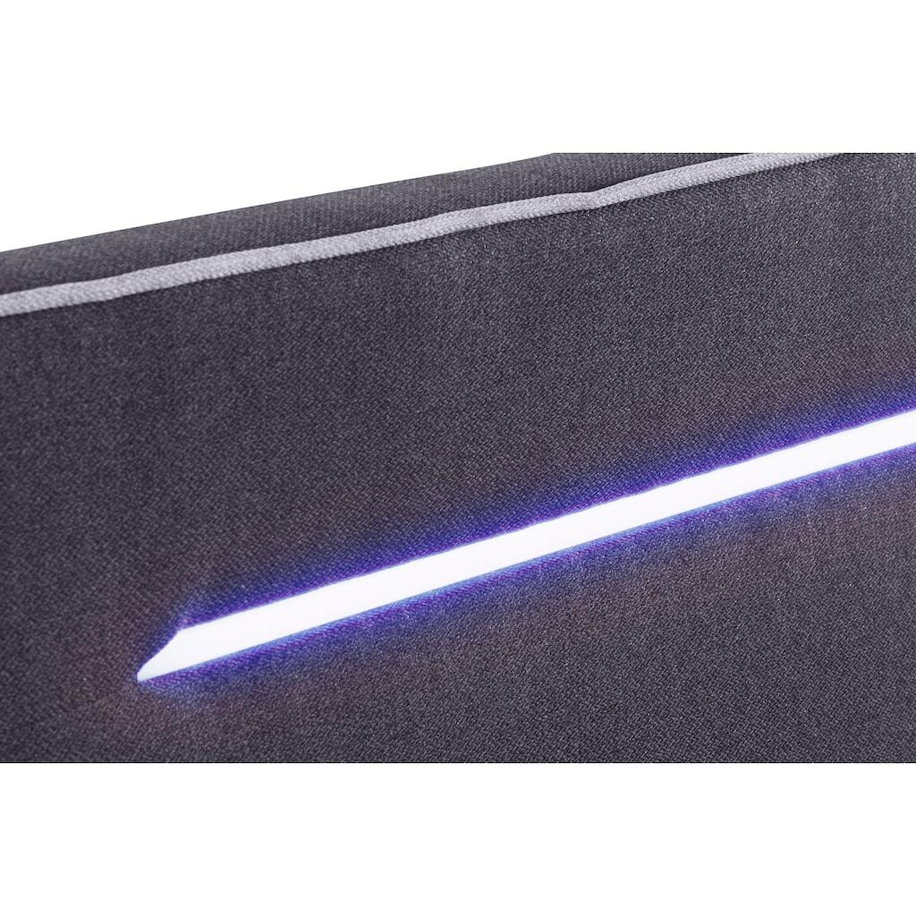 COLLECTION AB Boxspringbett, inklusive LED-Beleuchtung, Topper und 2 Zierkissen