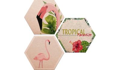 Alu - Dibond - Druck »Flamingo 03« (Set) kaufen