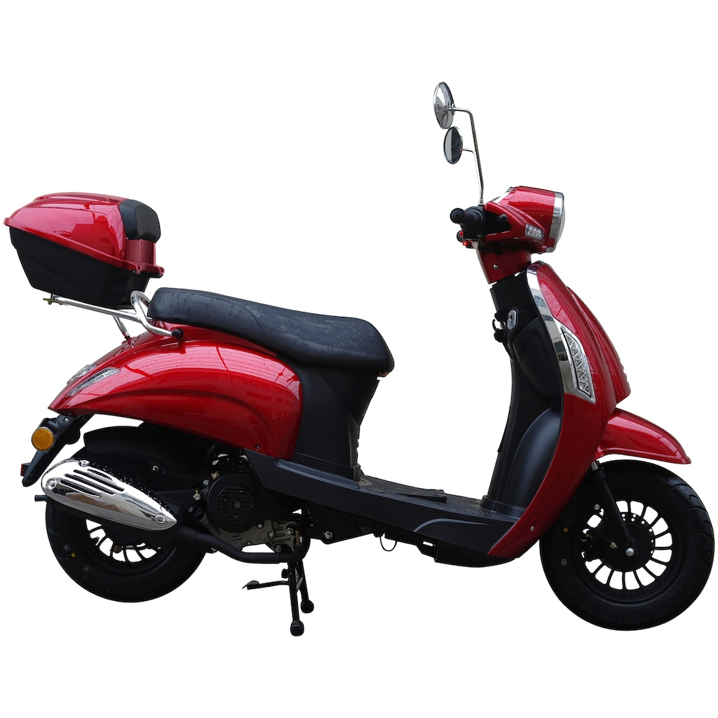 GT UNION Motorroller »Massimo«, 50 cm³, 45 km/h, Euro 4, 3 PS, (Set), inkl. Topcase