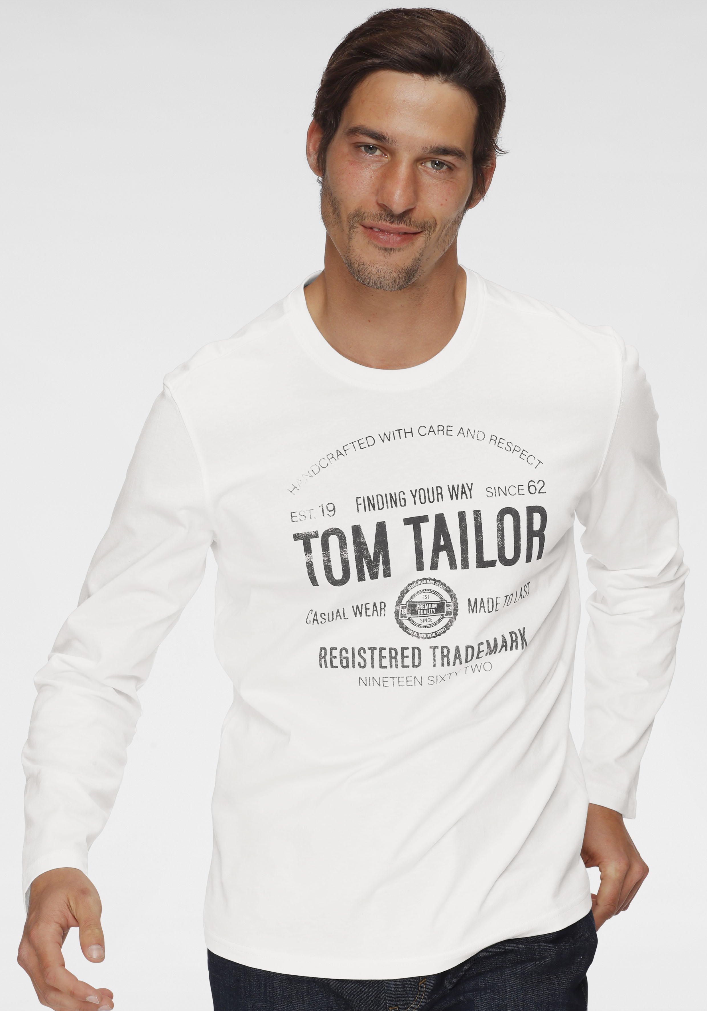 tom tailor -  Langarmshirt, mit Logoprint