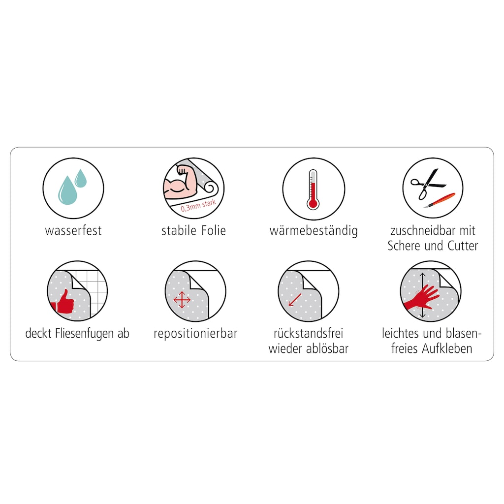 MySpotti Küchenrückwand »fixy Alexa«, selbstklebende und flexible Küchenrückwand-Folie