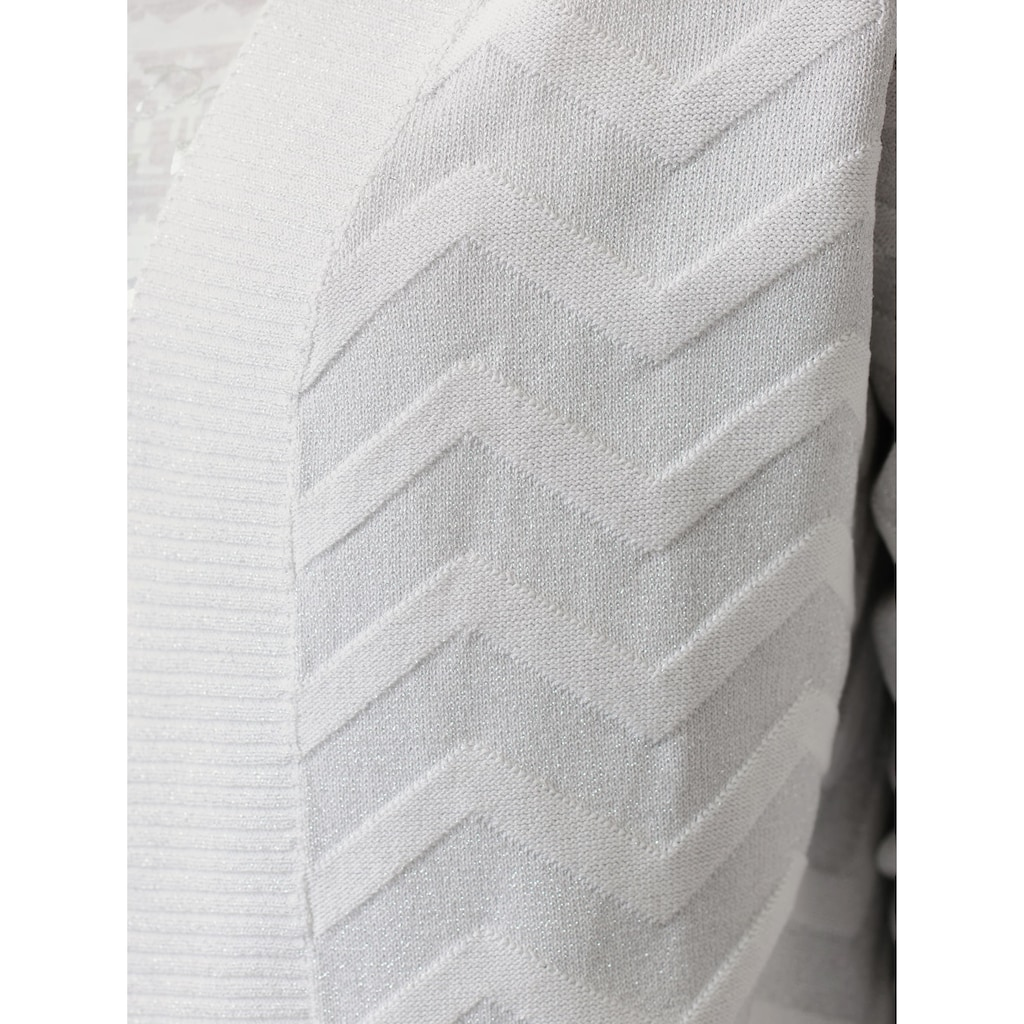 Alba Moda Strickjacke, mit effektvollem Zick-Zack Muster