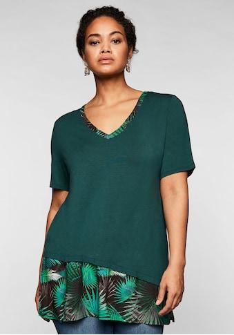 Sheego T-Shirt, im Lagenlook, mit V-Ausschnitt kaufen