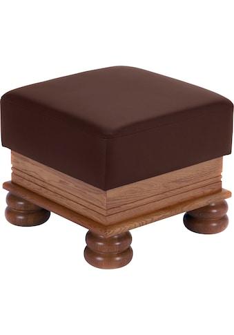 Max Winzer® Hocker »Texas«, mit dekorativem Holzgestell kaufen
