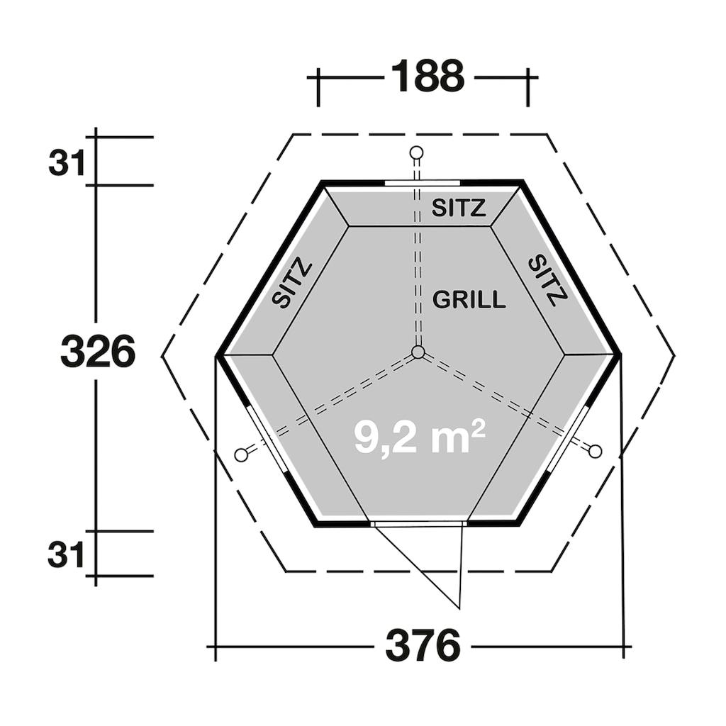 Wolff Grillkota »9 de luxe«, mit Lapplandpaket und schwarzen Schindeln