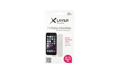 """XLAYER Schutzfolie »100% Clear 2x iPhone (6/6S) Plus 5.5""""« kaufen"""