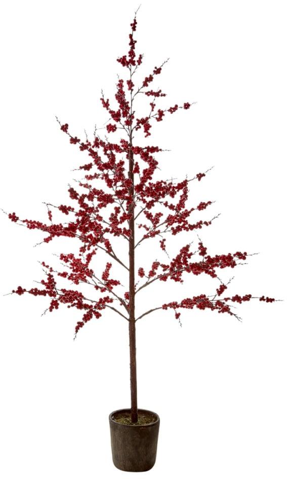 Kunstpflanze Berry, inkl. Topf rot Kunstpflanzen Pflanzen Garten Balkon