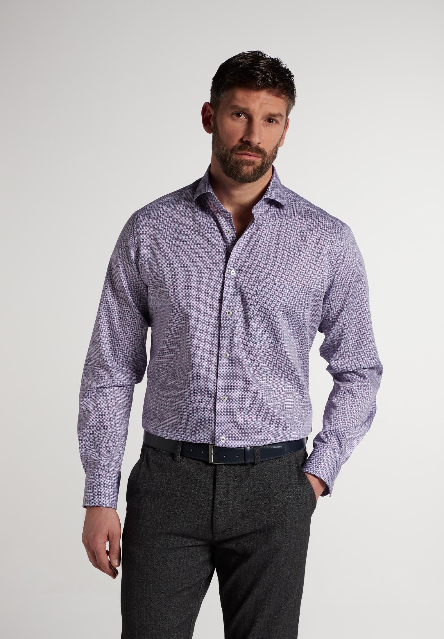 Eterna Businesshemd MODERN FIT, Langarm rosa Herren Business Hemden Businessmode