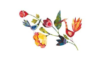 Wall-Art Wandtattoo »Märchenhaft Blumen und Vögel« kaufen