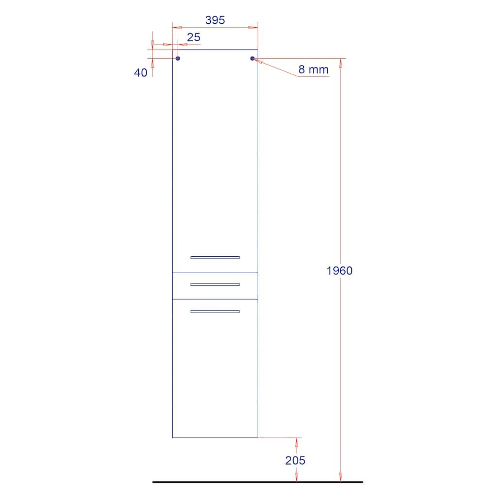 HELD MÖBEL Hochschrank »Florida«, Breite 40 cm, mit Türdämpfern