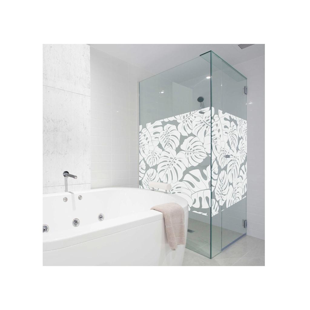 MySpotti Fensterfolie »Look Monstera white«, halbtransparent, glattstatisch haftend, 60 x 100 cm, statisch haftend