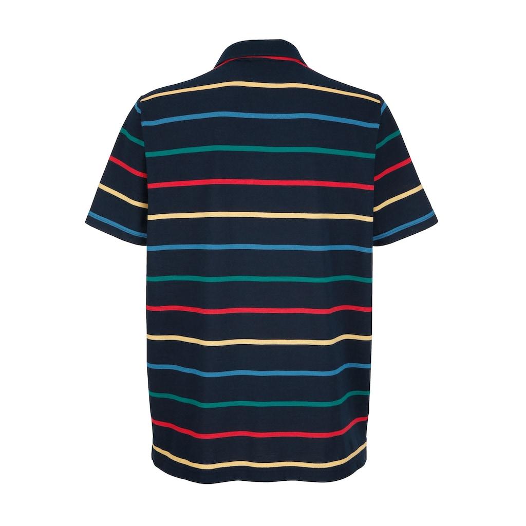 Roger Kent Poloshirt mit garngefärbtem Streifenmuster