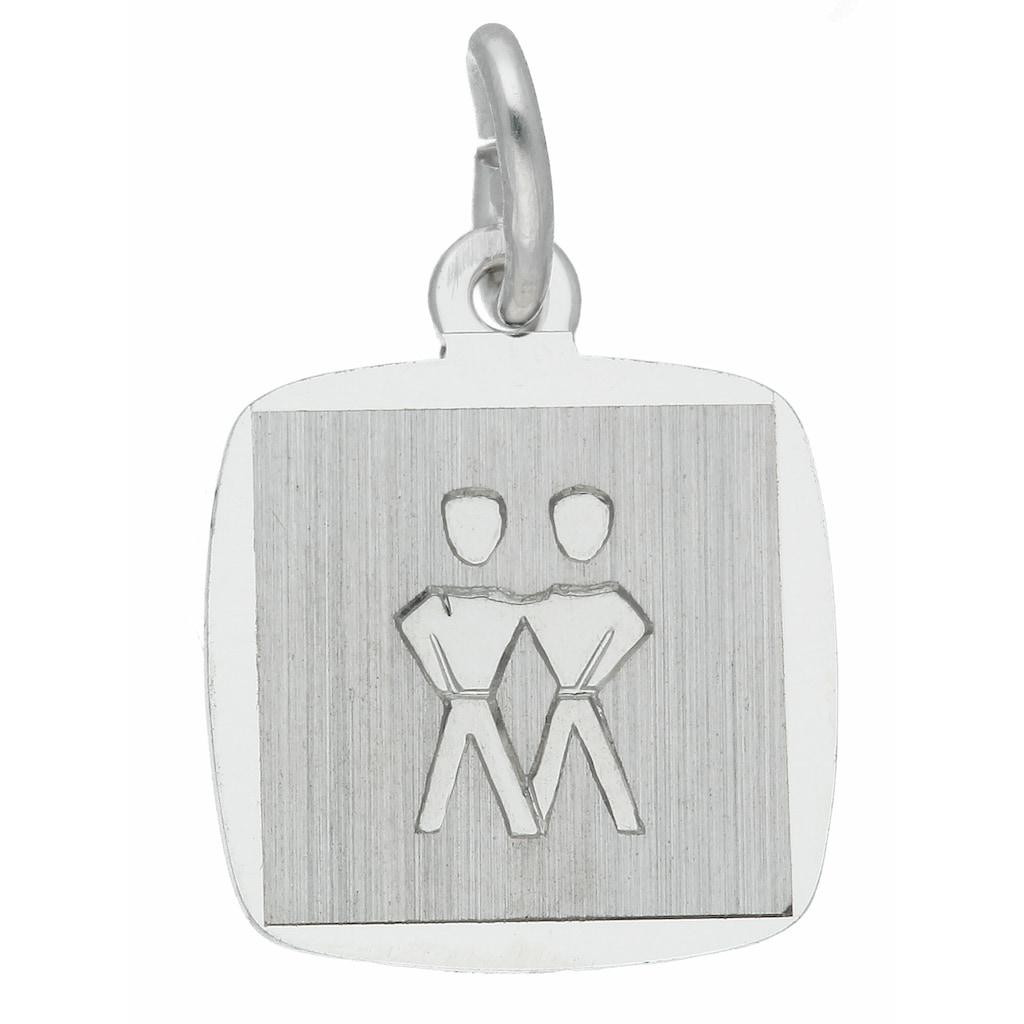 Adelia´s Kettenanhänger »925 Silber Sternzeichen Anhänger Zwilling«