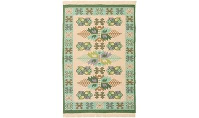 morgenland Wollteppich »Kelim Teppich Gizeh«, rechteckig, 5 mm Höhe, reine Baumwolle kaufen