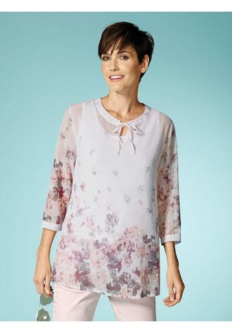 Laura Kent Tunikabluse mit zartem Blütendruck kaufen