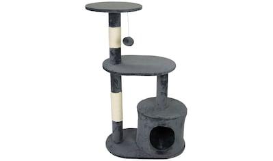 SILVIO design Kratzbaum »Katzenbaum Lizzy grau«, hoch, BxHxT: 50x30x84 cm kaufen