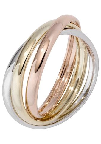 JOBO Goldring, 585 Gelbgold Weißgold Roségold tricolor kaufen