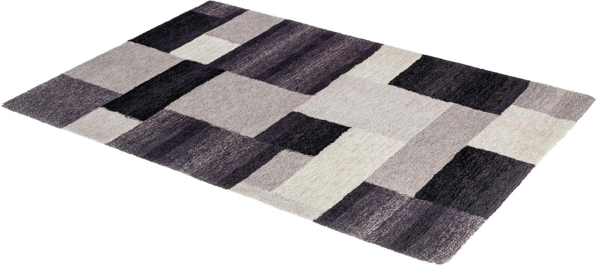 Hochflor-Teppich Livorno Karo ASTRA rechteckig Höhe 25 mm maschinell getuftet