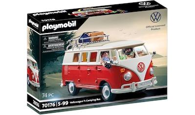 Playmobil® Konstruktions-Spielset »Volkswagen T1 Camping Bus (70176) VW Lizenz«, (74 St.) kaufen
