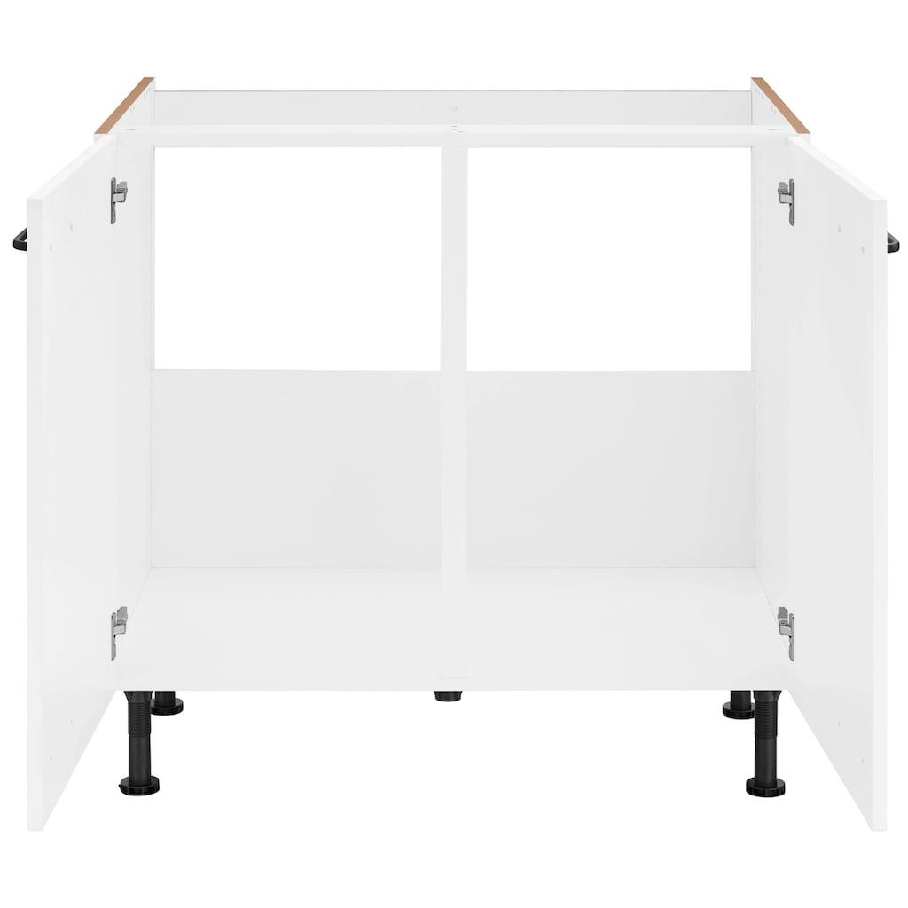 OPTIFIT Spülenschrank »Elga«, mit Soft-Close-Funktion, höhenverstellbaren Füßen und Metallgriff, Breite 90 cm